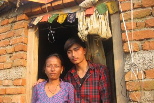 Ashish and his mom-Gramindevi