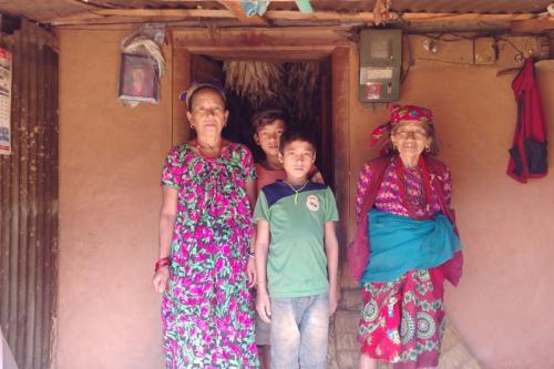 Dawa Tamang's family Shikharbesi Basic School