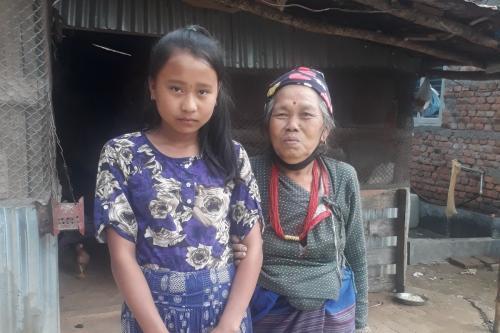 Home visit of Puja Tamang