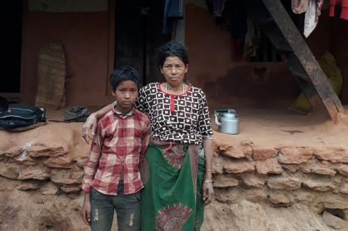 Home visit of Raj Kumar Tamang