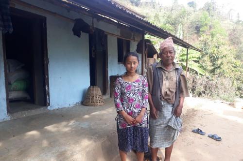 Home visit of Sima Tamang