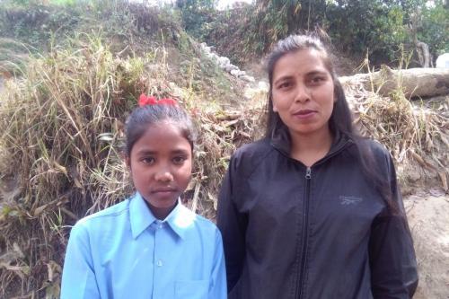 Nabina and her aunt- Kumbeshwor