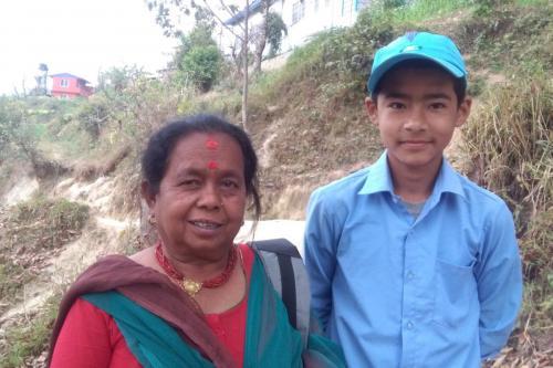 Nishan and his grandma