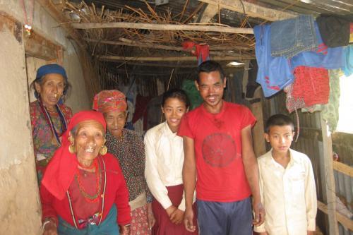 Purnimaya with her family Shikharbeshi Program