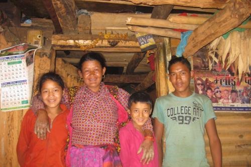 Ramesh with his family Shikharbeshi Program