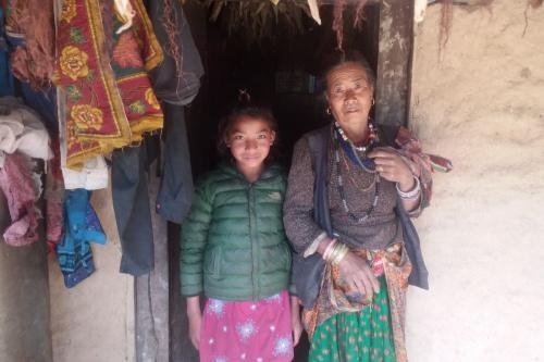 Rupmaya with her mother