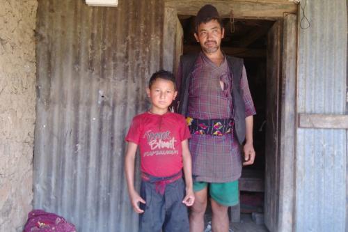 Sani Kumar (Sanjit) with his dather