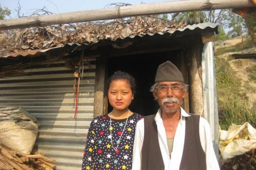 Sanumaya and her Grandpa- Gramindevi