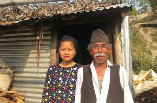 Sanumaya with her Grandfather
