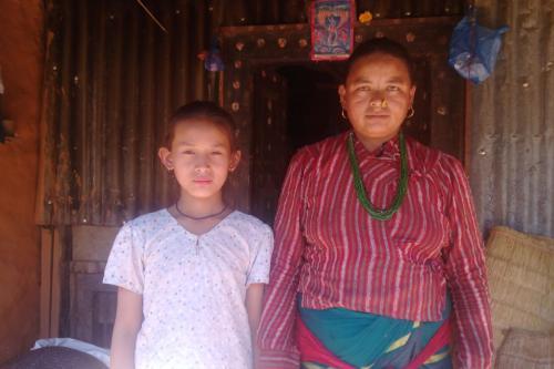 Sonimaya Tamang with her aunt
