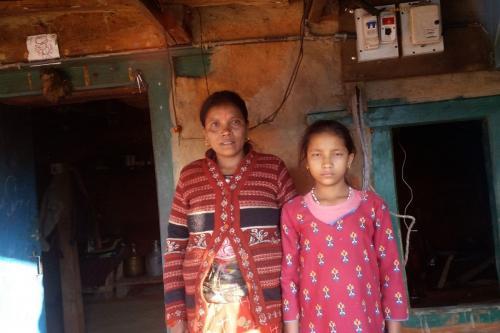 Susmita BK with her mother.